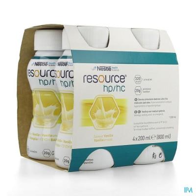 Resource Hp Hc Vanille Fles 4x200ml