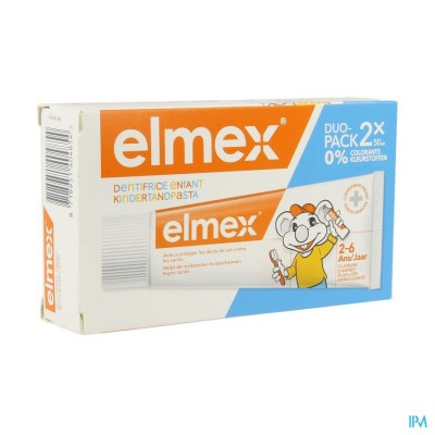 ELMEX TANDPASTA KIND 2-6 JAAR              2X50ML