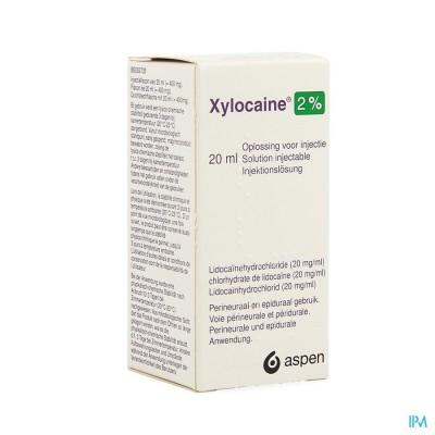 XYLOCAINE INJ 1X20ML 2%