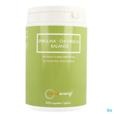 Spirulina-chlorella Balance Natur.energy Caps 500