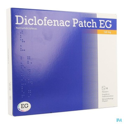 DICLOFENAC PATCH EG 140MG PLEISTER 10