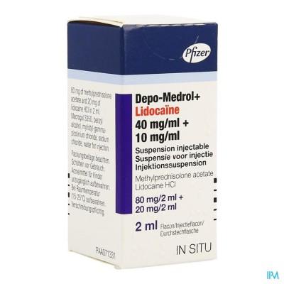 DEPO-MEDROL LIDOC 80MG VIAL 40MG/ML  1 X 2 ML