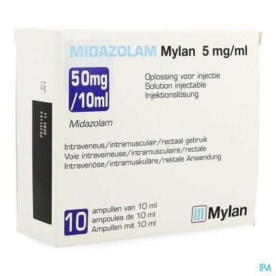 MIDAZOLAM MYLAN 5MG/ML OPL INJ AMP 10X10ML