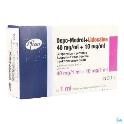 DEPO-MEDROL LIDOC 40MG VIAL 40MG/ML  3 X 1 ML