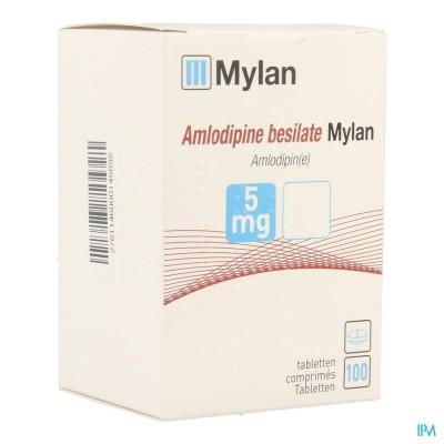 AMLODIPINE BESILATE MYLAN COMP 100 X  5 MG BLISTER