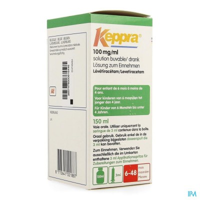 KEPPRA 100MG/1ML PER OS FL 150ML+SP OR TOEDIE 3ML