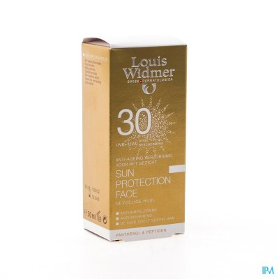 WIDMER SUN PROTECTION FACE IP30 PARF    TUBE  50ML