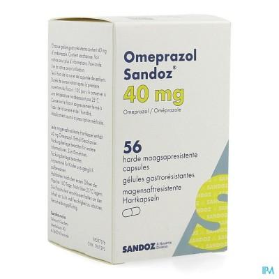 OMEPRAZOL SANDOZ CAPS ENTER 56 X 40 MG