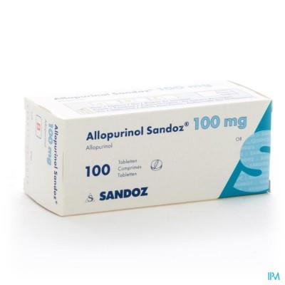 ALLOPURINOL SANDOZ 100MG TABL 100