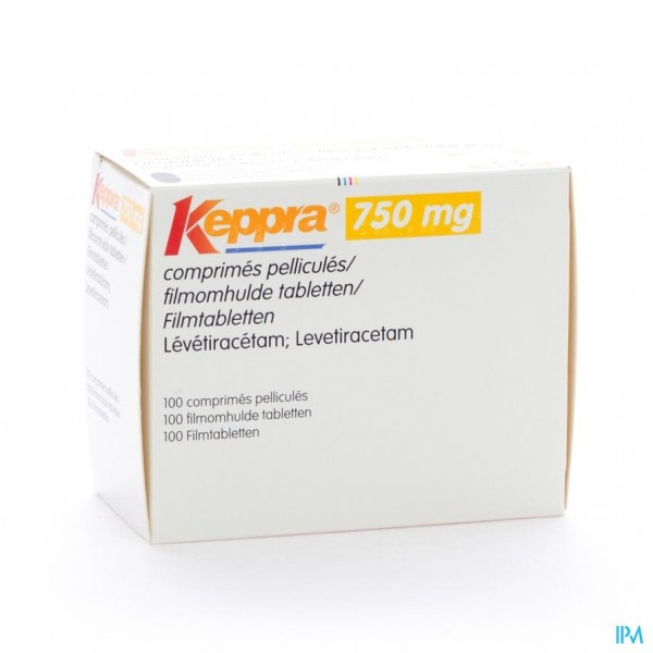 KEPPRA  750MG COMP PELL 100X 750MG