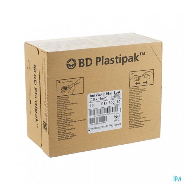 Bd Plastipak Spuit+nld Tuberc.1ml 25g 5/8 1 303175