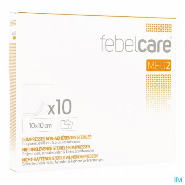 FEBELCARE MED2 KOMP.N/INKL. STER. 10,0X10,0CM 10X1