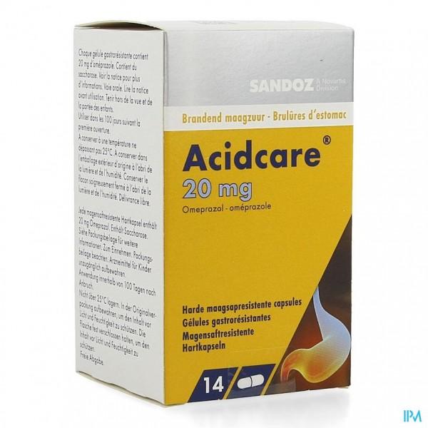 Acidcare 20mg Sandoz Caps Maagsapres 14 X 20mg