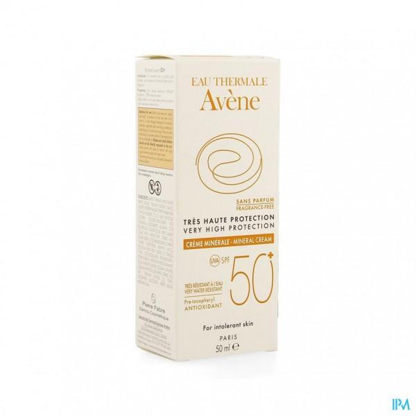 Avene Zonnecreme Minerale Z.hoge Besch.ip50+ 50ml