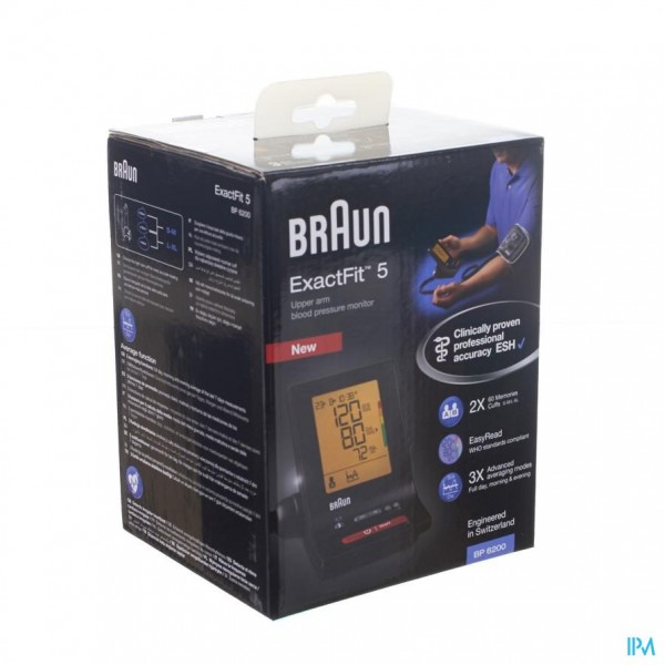 BLOEDDRUKMETER BRAUN BP6200 EXACT FIT TM5
