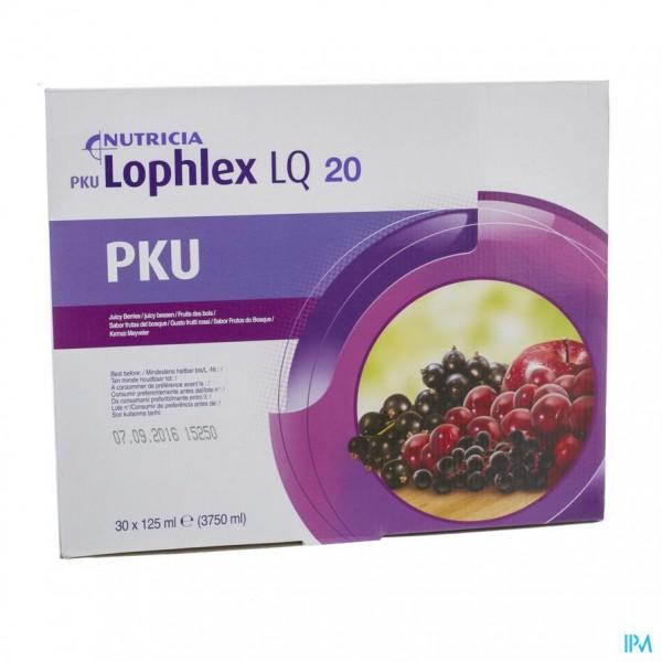 Pku Lophlex Lq 20 Juicy Bosvruchten 30x125ml