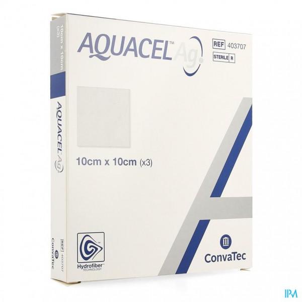 Aquacel Ag Verb Hydrofiber Ster 10x10cm 3 403707